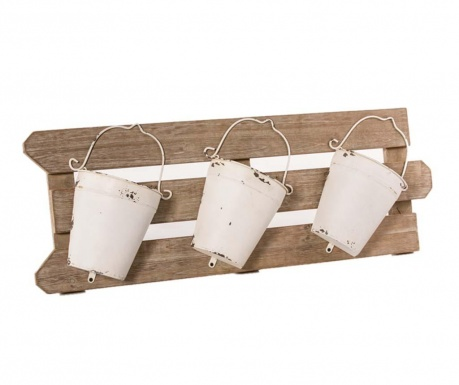 Set of 3 flowers pots with wall holder Secchi
