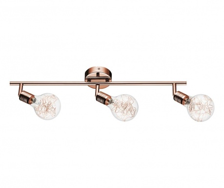 Svítidlo Bulbs Triple Copper  Transparent