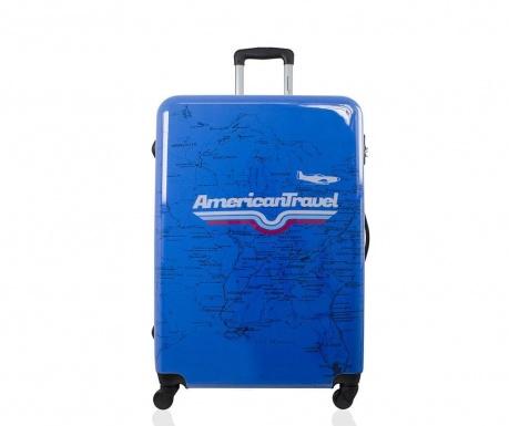 Times Square Print Gurulós  bőrönd