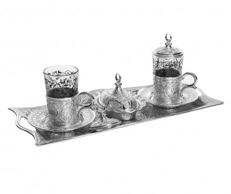 Khali Silver 9 darabos Kávéskészlet