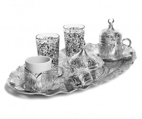 Сервиз за кафе 11 части Metin  Silver