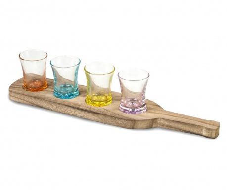 Комлект 4 чаши и поставка Salud