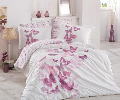 Posteljina King Poplin Sueno Lilac