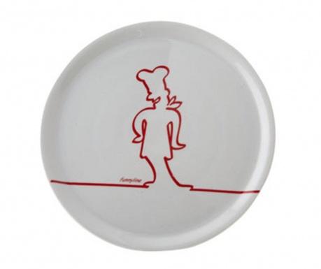 Funny Line Red Pizza szervírozó tál
