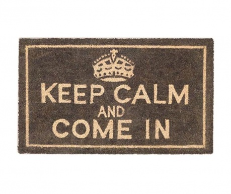 Covoras de intrare Keep Calm and Come In 45x75 cm