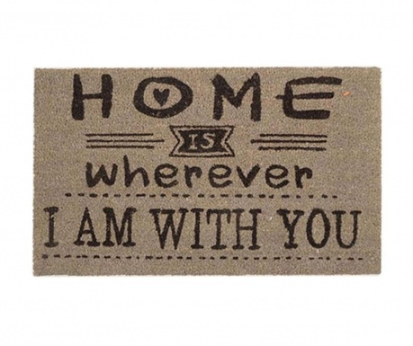 Covoras de intrare Home is Wherever I Am With You 45x75 cm