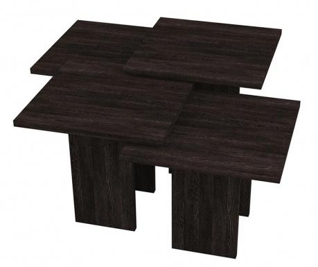Sada 4 konferenčních stolků Grade Dark Wenge