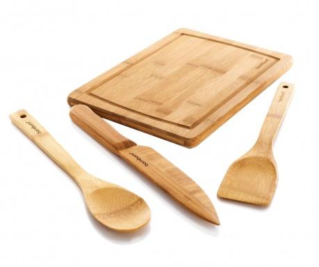 Комплект кухненски прибори и дъска за рязане Tofu