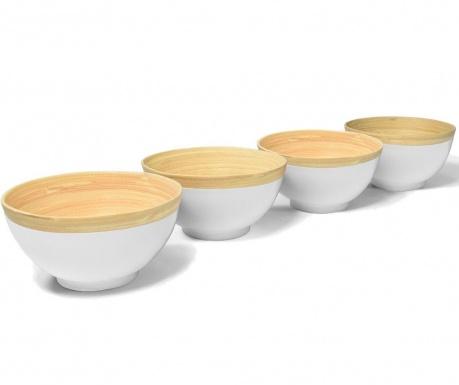 Сервиз 4 купи Bamboo Life White 400 мл