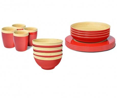 Сервиз за маса 16 части Bamboo Life Red