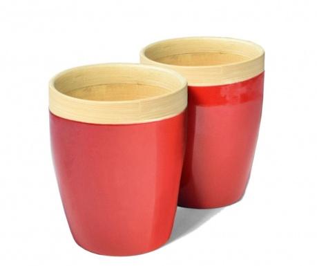 Комплект 2 чаши Bamboo Life Red