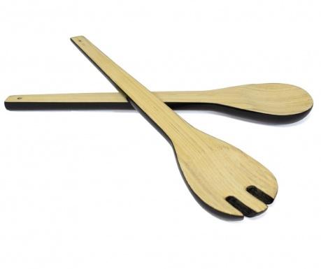 Комплект 2 прибора за салата Bamboo Life Black