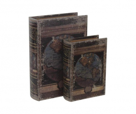 Zestaw 2 pudełek typu książka Socrates