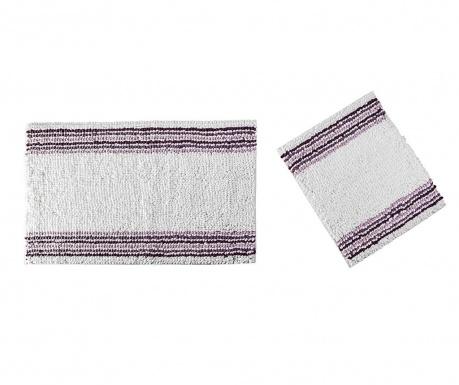 Zestaw 2 dywaników łazienkowych Line Purple