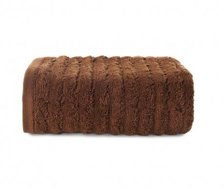 Ręcznik kąpielowy Lines Brown 50x90 cm