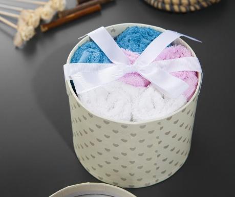 Zestaw 6 ręczników kąpielowych w pudełku Scarllet Blue 30x30 cm