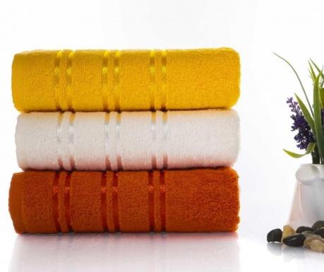 Zestaw 3 ręczników kąpielowych Becky Orange and Yellow 50x90 cm