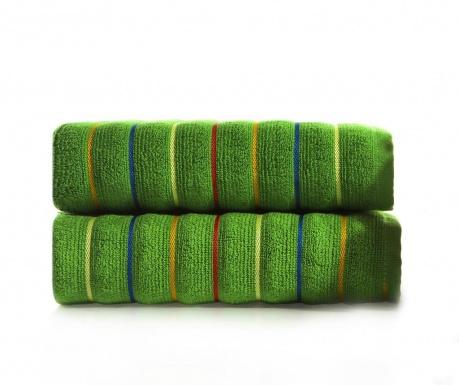 Zestaw 2 ręczników kąpielowych Molgaard Green 50x90 cm