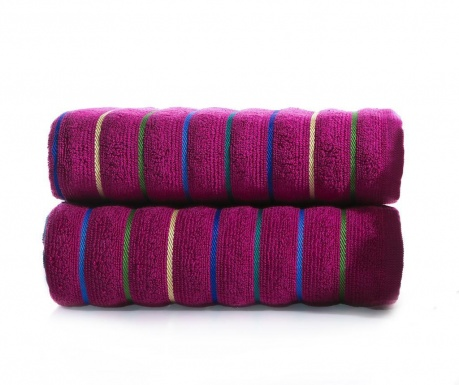 Zestaw 2 ręczników kąpielowych Molgaard Violet 50x90 cm