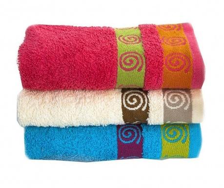 Zestaw 3 ręczników kąpielowych Flare Colors 30x50 cm