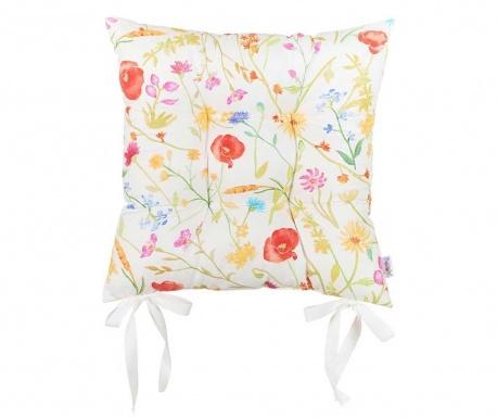 Възглавница за седалка Slim Flowers 37x37 см