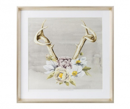 Horns and Flowers Kép 60x60 cm