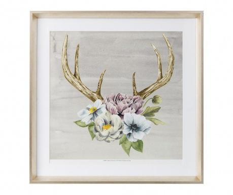 Flowers and Horns Kép 60x60 cm