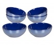 Set 6 skled Crockery Dark Blue