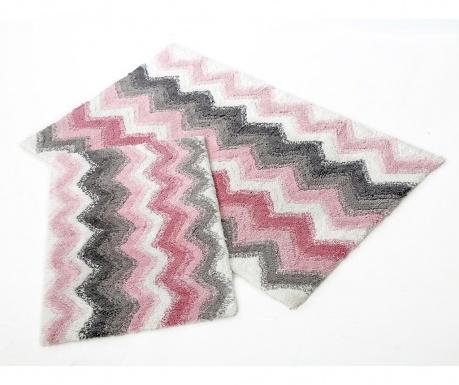 Zestaw 2 dywaników łazienkowych Leron Pink