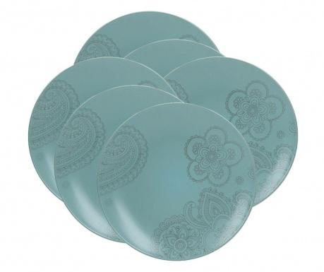 Moon Turquoise 6 db Lapostányér