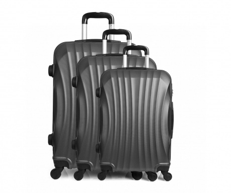 Moscou Grey 3 db Gurulós  bőrönd