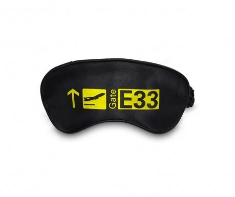 Masca pentru dormit Gate Black and Yellow