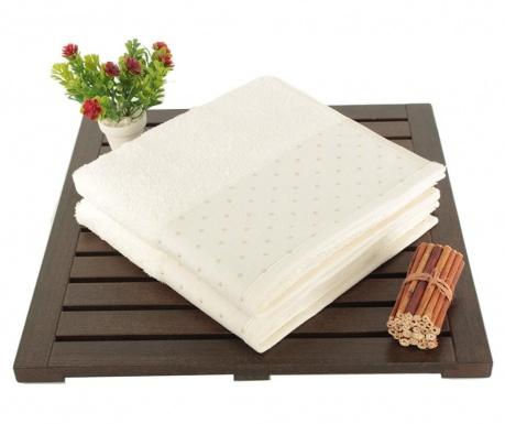 Zestaw 2 ręczników kąpielowych Polka Dots White 50x90 cm