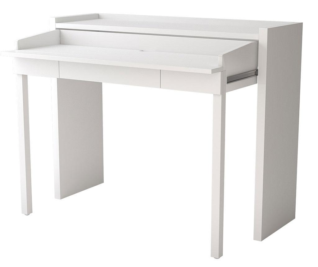Mel White Konzol kihúzható íróasztal lappal