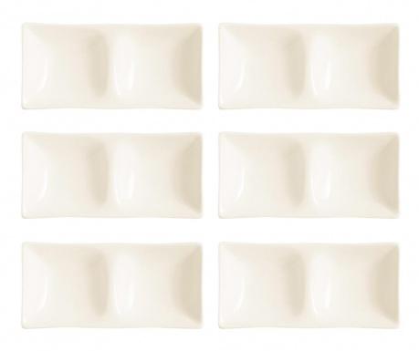 Set 6 servirnih krožnikov za prigrizke Merida