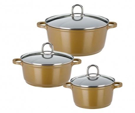 Комплект готварски съдове 6 части Rudabet Gold