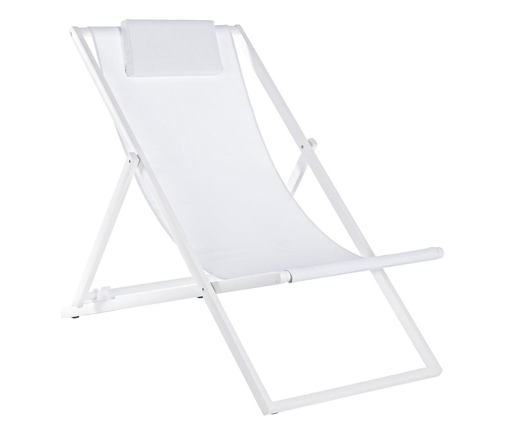 Scaun pliabil pentru plaja Taylor White Tall