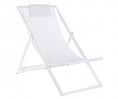 Сгъваем стол за плаж Taylor White Tall