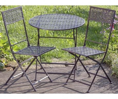 Sada venkovní skládací stůl a 2 židle Gera