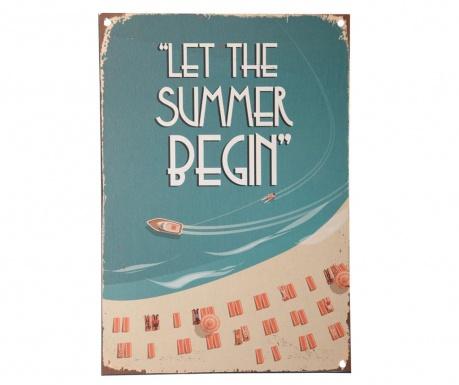 Let the Summer Begin Fali dekoráció