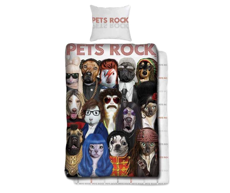 Set de pat Single Ranforce Pets Rock