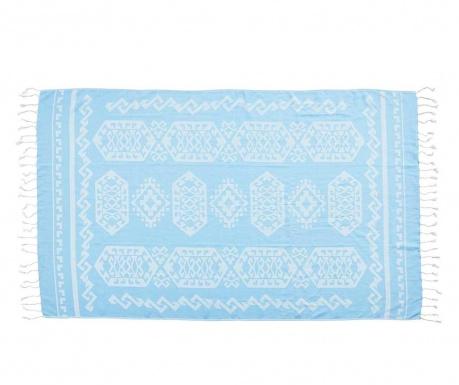 Kupaonski ručnik Caya Stuff Light Blue 90x180 cm