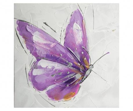 Tablou Purple Butterfly 30x30 cm