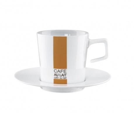 Ceasca si farfurioara Stripe Cafe au Lait