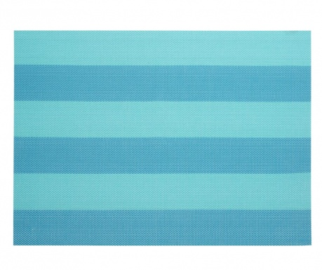 Set 4 individualuri Stripe Turquoise 33x46 cm