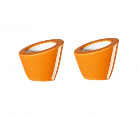 Set 2 suporturi pentru ou fiert Pollo Orange