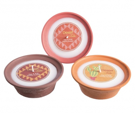 Set of 3 scented candles Sage M