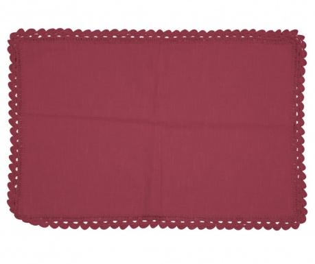 Individual Crochet Bordeaux 35x50 cm