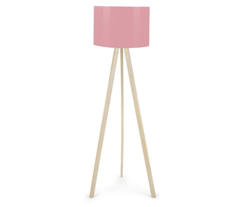 Talna svetilka Elisa White Brown Powder Pink