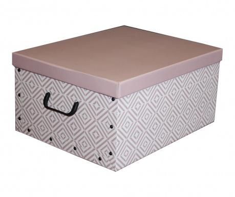Shranjevalna škatla s pokrovom Diamonds Rosa